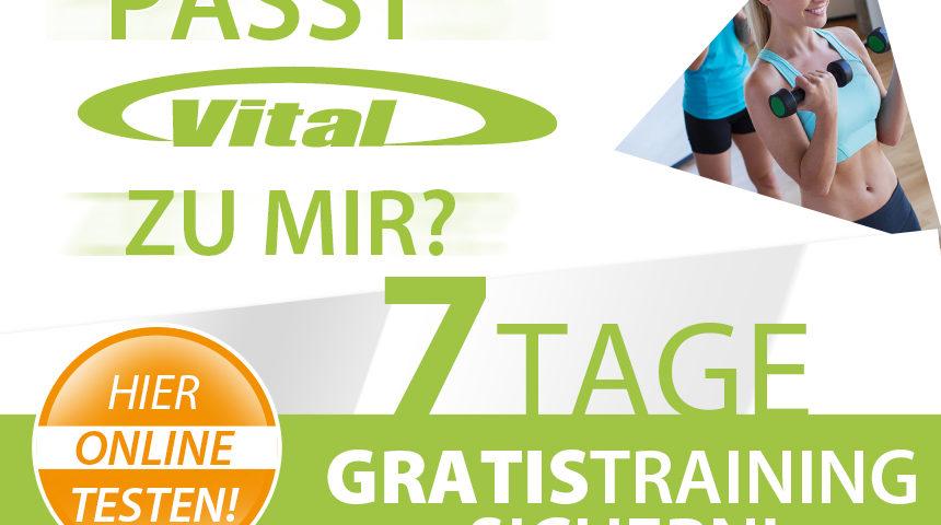 Passt das VITAL zu mir? 7 Tage gratis Training sichern!